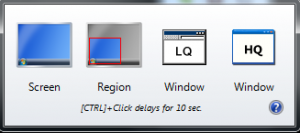 screenshot by region and screen size