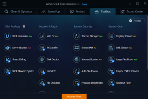 advanced system care tools