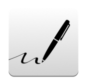 an app to write with your fingers