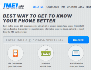 check your phone deatils using imei number online