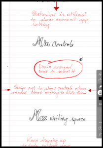 writing on android tablet