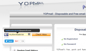 free disposable email service aka temporary email address