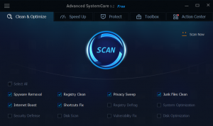 advanced system care cleanup